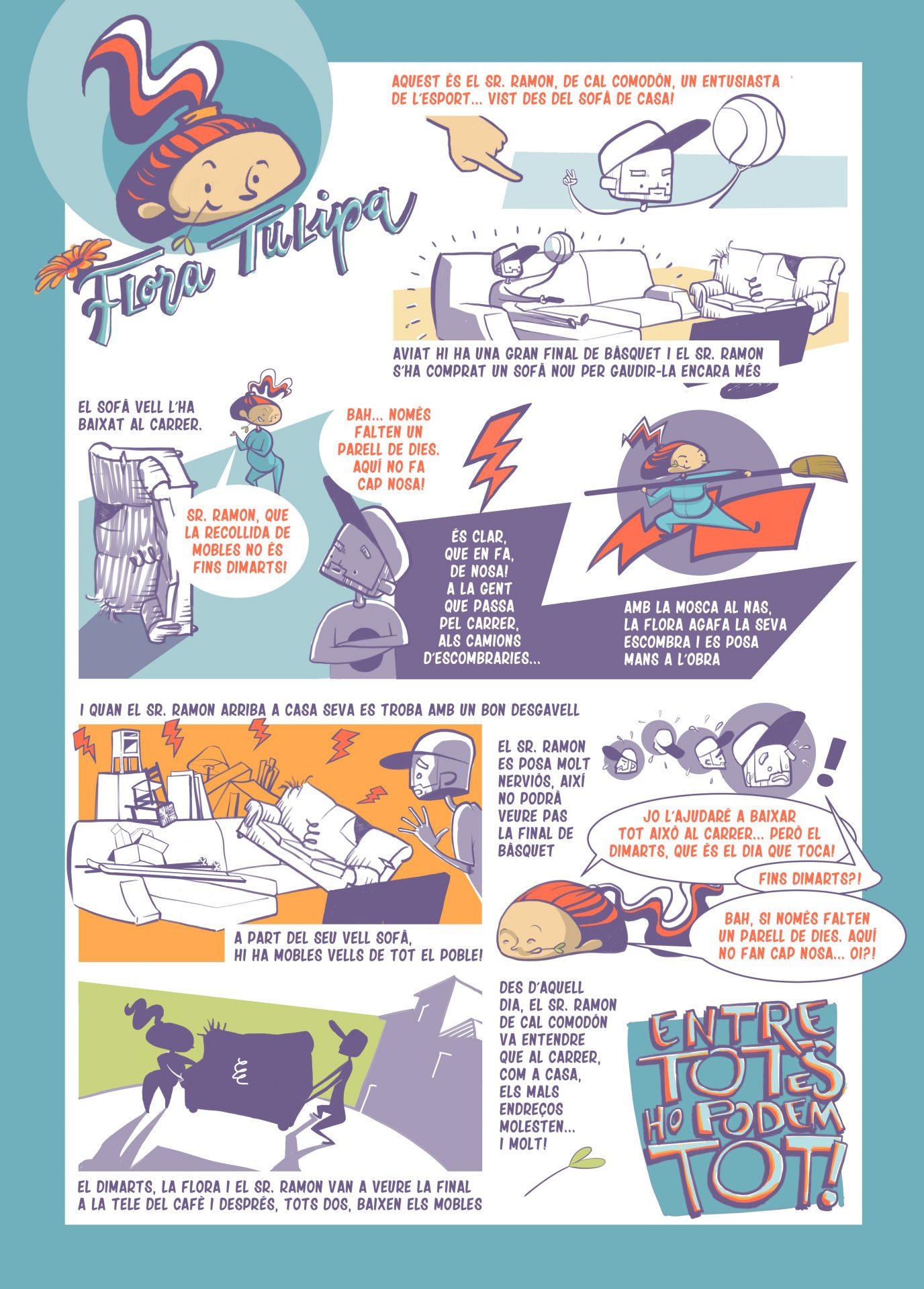 Còmic sobre la incorrecta gestió dels residus voluminosos de les llars