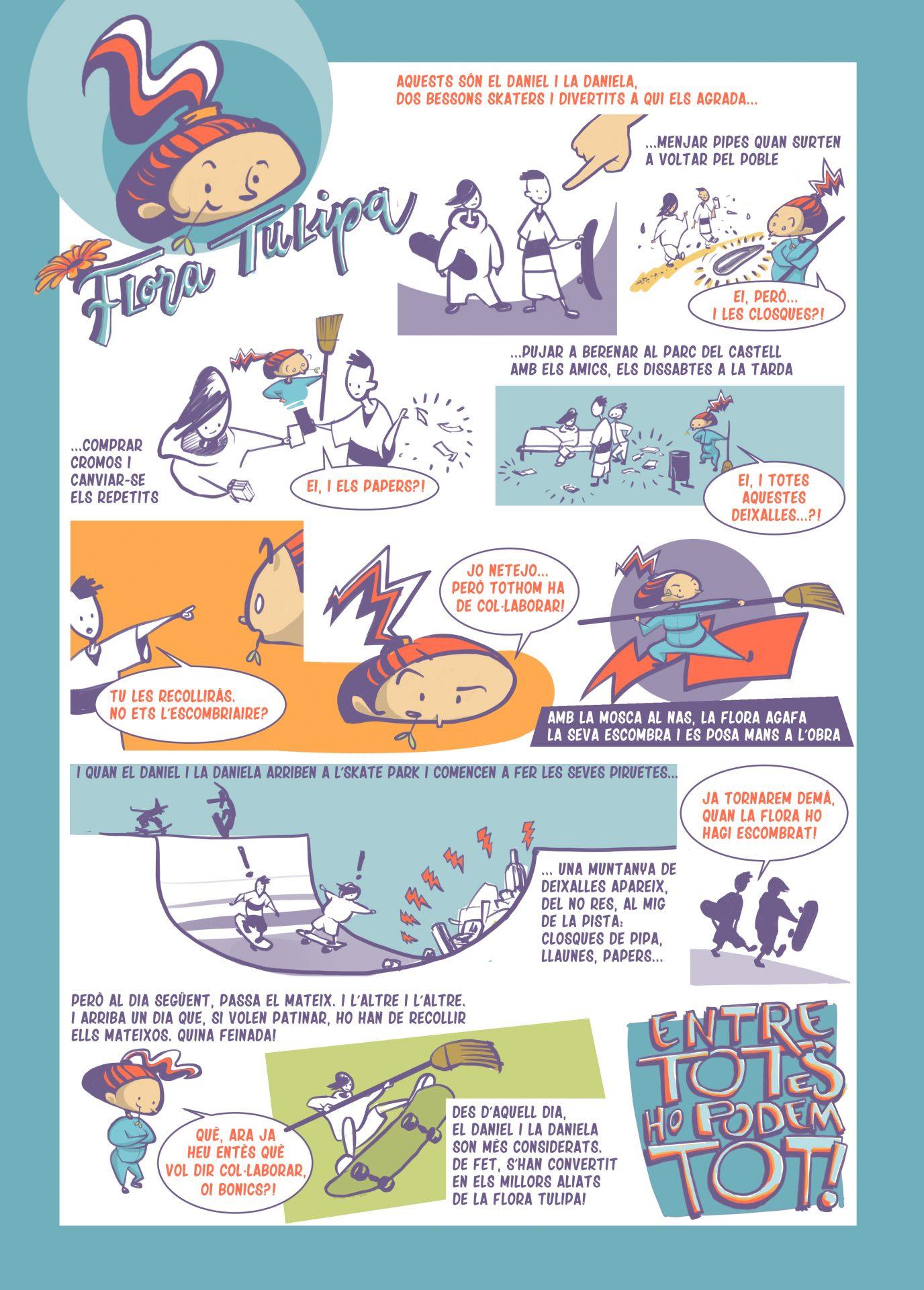 Còmic sobre la llença indiscriminada de brossa