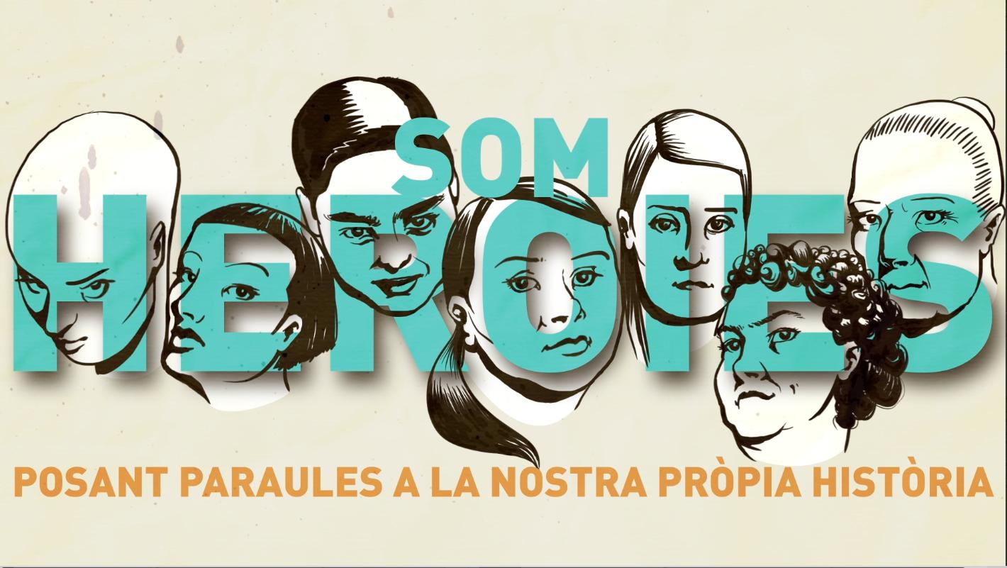 Cartell de la campanya #SomHeroies, de la cooperativa Tamaia