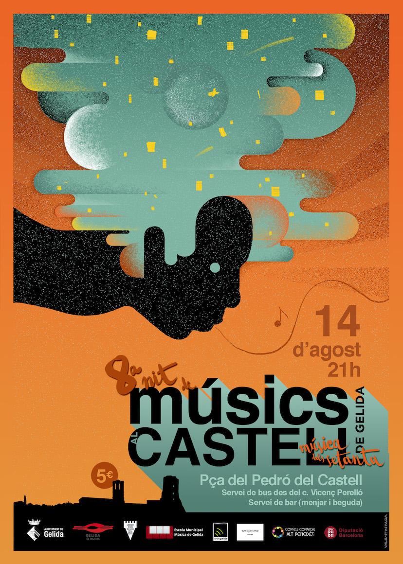 Cartell del concert de Músics de Gelida al Castell de l'edició 2019
