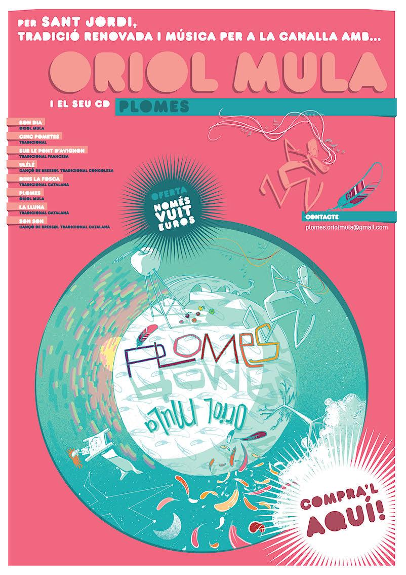Cartell per a la presentació del disc que es va fer per Sant Jordi 2019