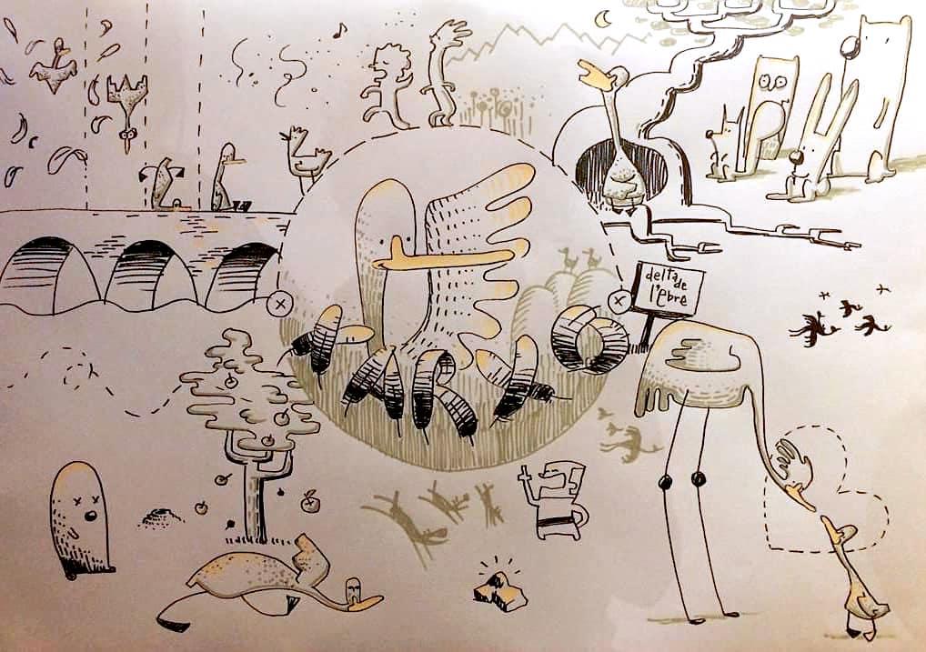 Aquest és el pòster resultant de l'espectacle de narració, música i dibuix en directe