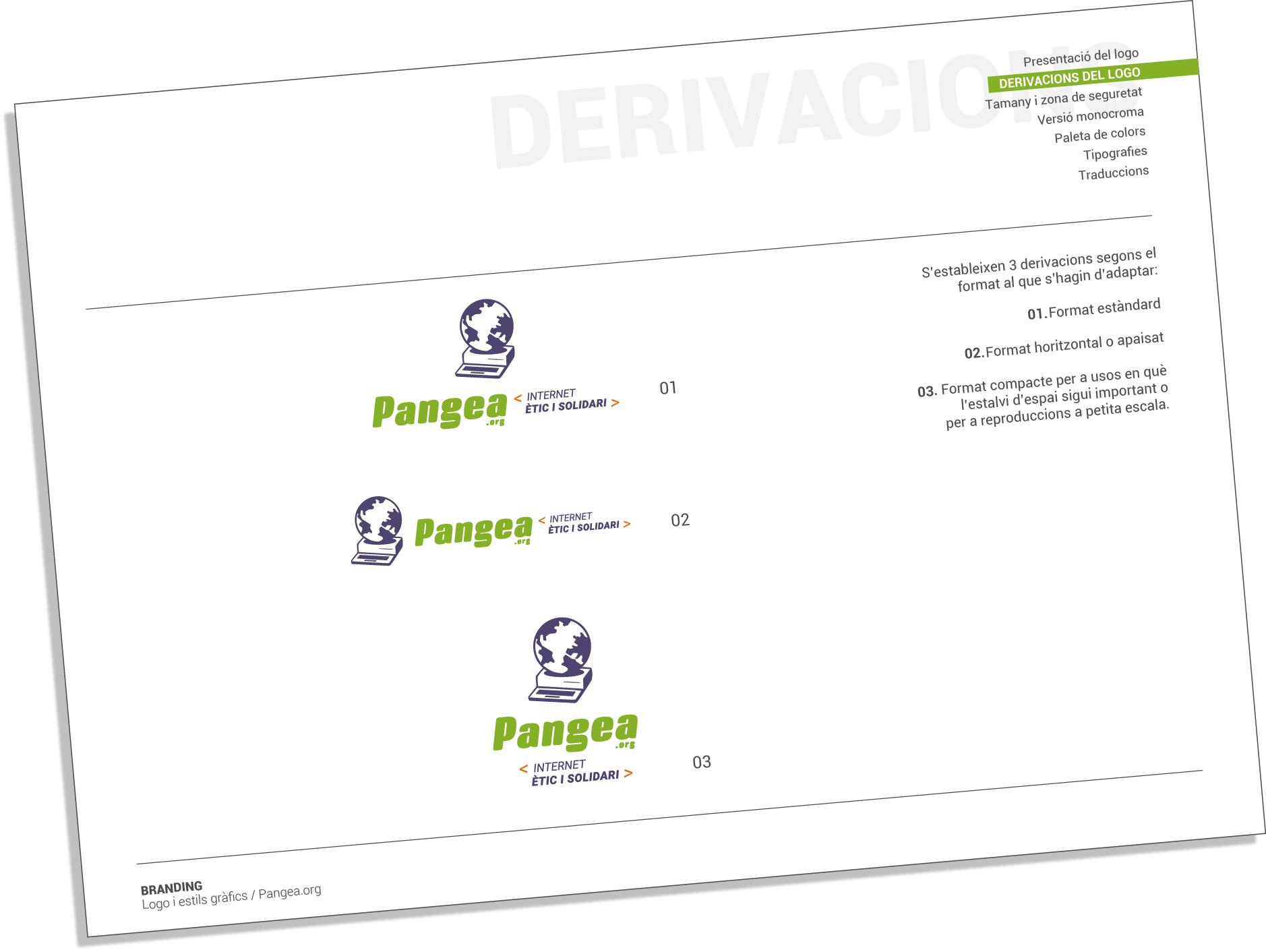 Redisseny del logotip i llibre d'estil per a Pangea.org
