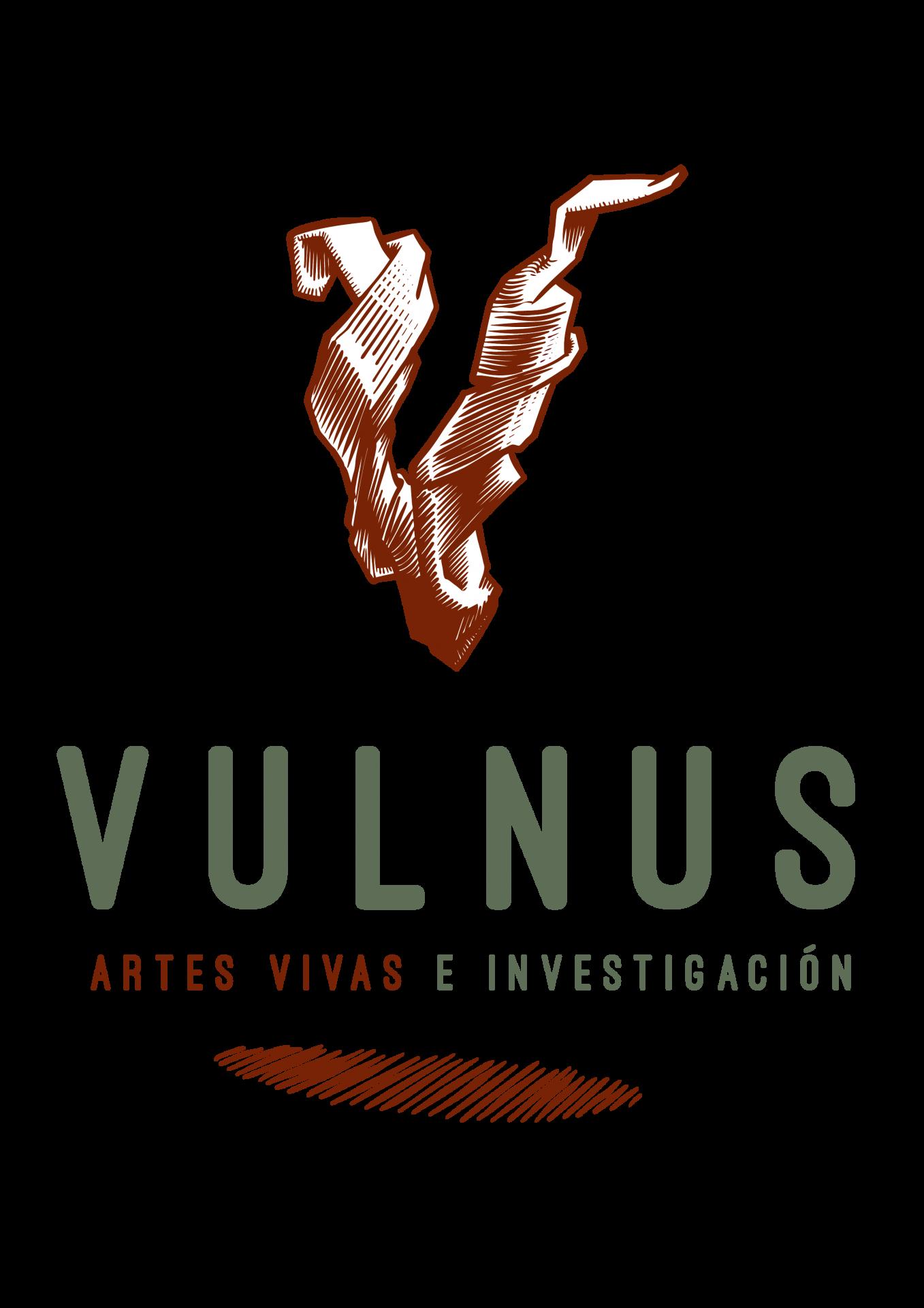 Disseny del logotip per al col·lectiu Vulnus, dedicat a l'acció i la recerca al voltant de les arts escèniques i les comunitats
