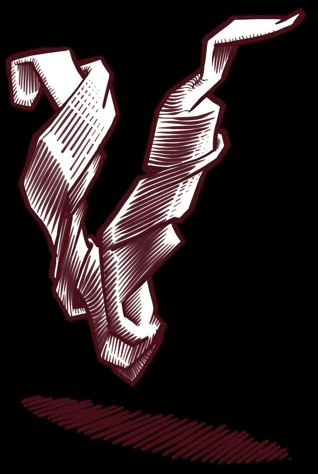 L'imagotip és una il.lustració a línia que simula l'efecte del gravat a burí