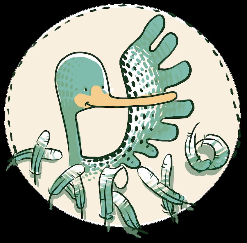 Il·lustració de capçalera del conte Xarxonet