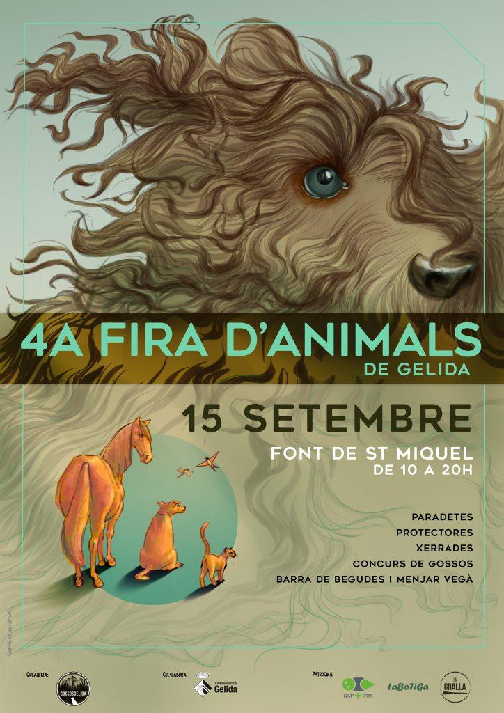 Cartell per a la quarta edició de la Fira d'animals de Gelida