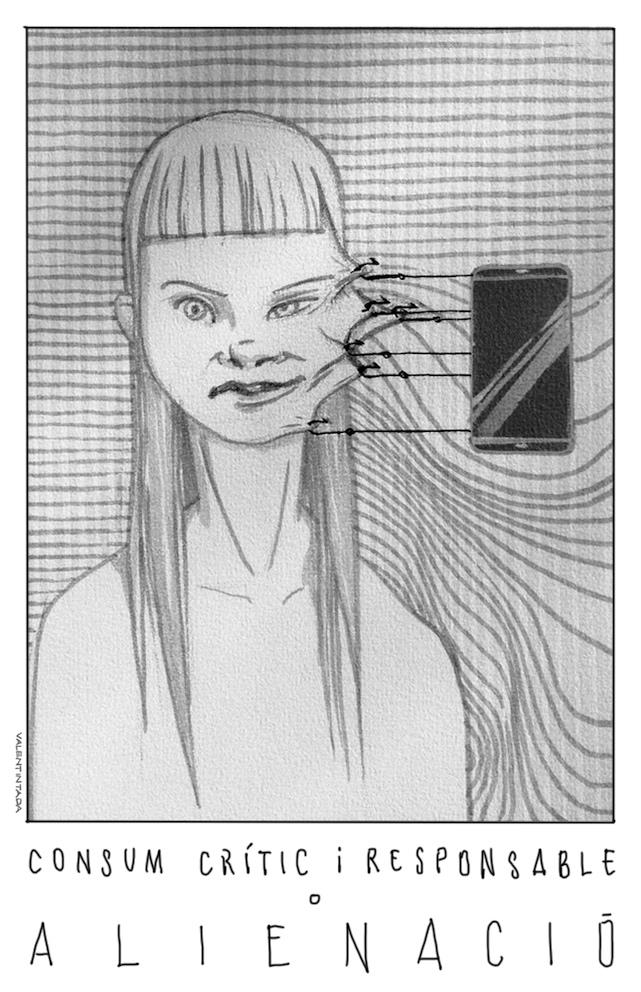 """Dibuix """"Consum crític i responsable o alienació"""""""