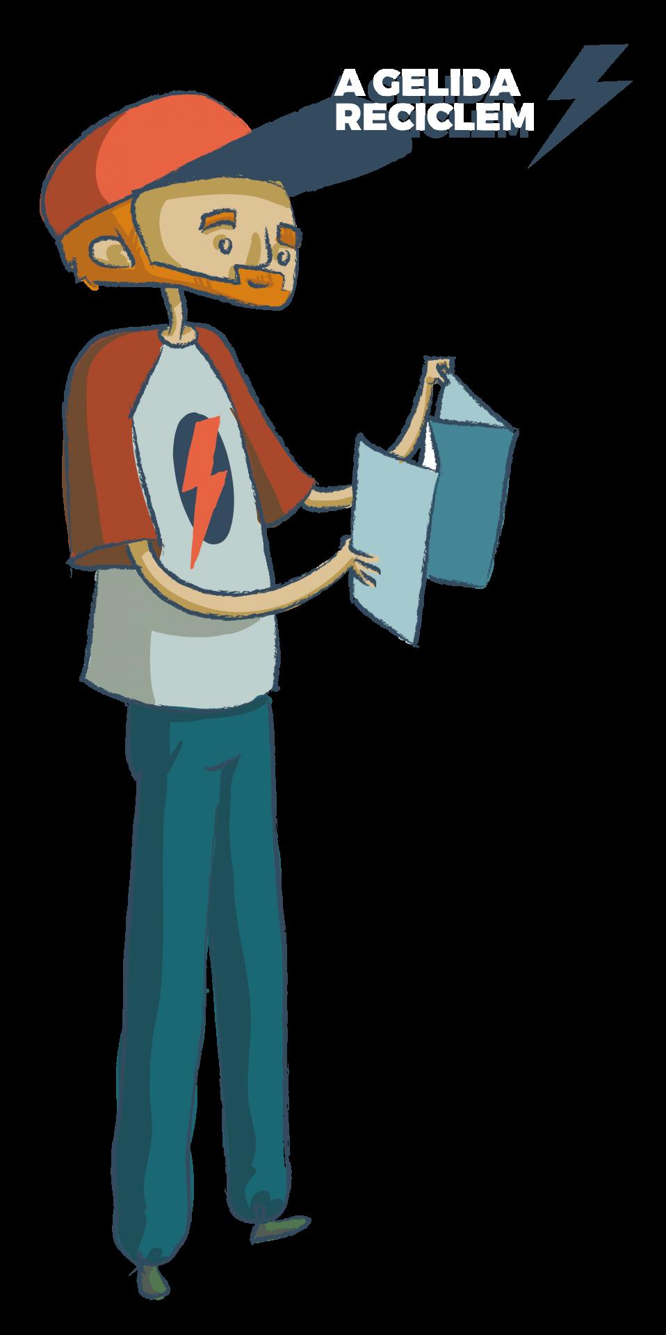 El Sr. Ramon és el personatge dels contenidors de paper