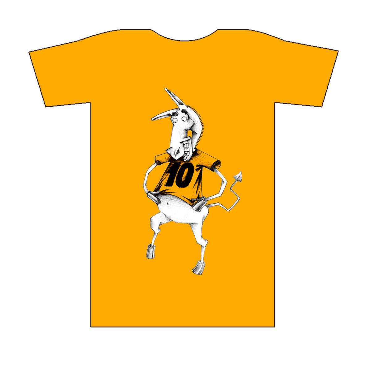 Per als 10 anys de la trobada de directors de lleure s'editaren samarretes amb el personatge