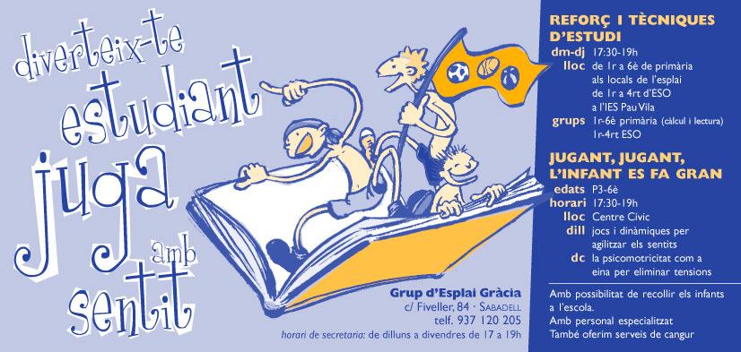 Dibuix i fulletó per a un dels centres de lleure educatiu federats a la Fundació Pere Tarrés