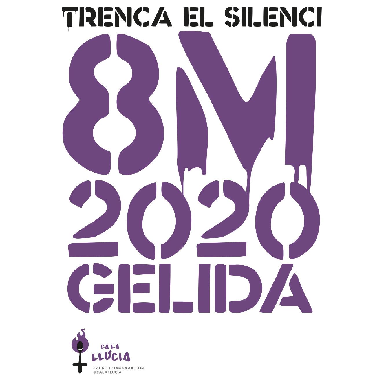 Logotip, cartell i pamflet per al 8M
